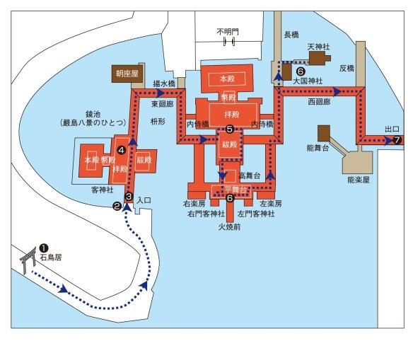 厳島神社 参拝マップ
