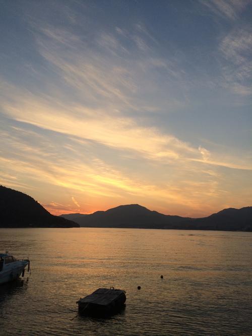 宮島 冬の夕陽