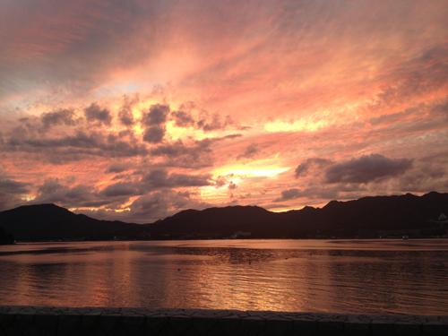 宮島 夏の夕陽