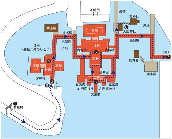 厳島神社見取り図
